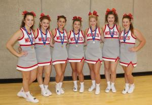 All american cheerleaders at camp