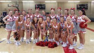 Davis Cheerleaders at UCA Camp